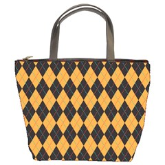Plaid Triangle Line Wave Chevron Yellow Red Blue Orange Black Beauty Argyle Bucket Bags by Alisyart