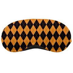 Plaid Triangle Line Wave Chevron Yellow Red Blue Orange Black Beauty Argyle Sleeping Masks