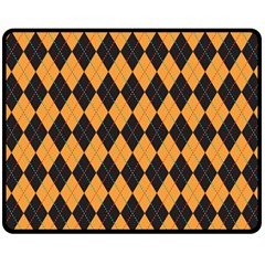 Plaid Triangle Line Wave Chevron Yellow Red Blue Orange Black Beauty Argyle Fleece Blanket (medium)  by Alisyart