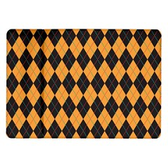 Plaid Triangle Line Wave Chevron Yellow Red Blue Orange Black Beauty Argyle Samsung Galaxy Tab 10 1  P7500 Flip Case