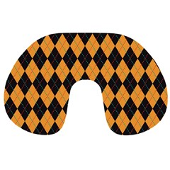 Plaid Triangle Line Wave Chevron Yellow Red Blue Orange Black Beauty Argyle Travel Neck Pillows by Alisyart