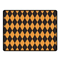 Plaid Triangle Line Wave Chevron Yellow Red Blue Orange Black Beauty Argyle Double Sided Fleece Blanket (small)  by Alisyart