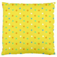 Star Rainbow Coror Purple Gold White Blue Yellow Large Flano Cushion Case (one Side)