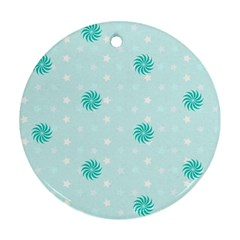 Star White Fan Blue Ornament (round) by Alisyart