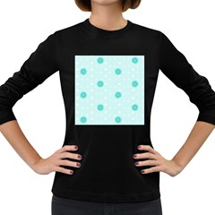 Star White Fan Blue Women s Long Sleeve Dark T Shirts