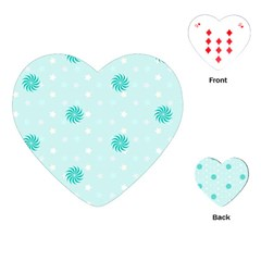 Star White Fan Blue Playing Cards (heart)