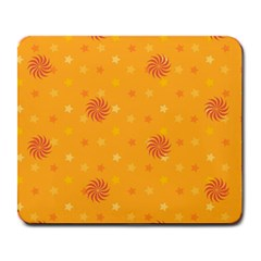 Star White Fan Orange Gold Large Mousepads
