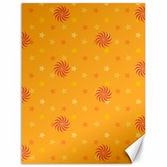 Star White Fan Orange Gold Canvas 12  X 16   by Alisyart