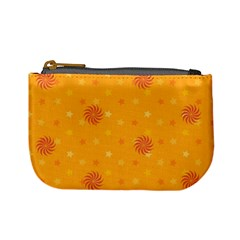 Star White Fan Orange Gold Mini Coin Purses by Alisyart