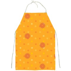 Star White Fan Orange Gold Full Print Aprons