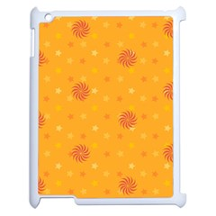 Star White Fan Orange Gold Apple Ipad 2 Case (white) by Alisyart
