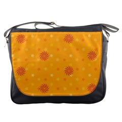Star White Fan Orange Gold Messenger Bags by Alisyart