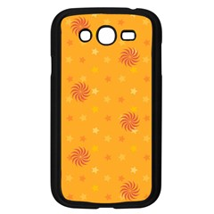 Star White Fan Orange Gold Samsung Galaxy Grand Duos I9082 Case (black)