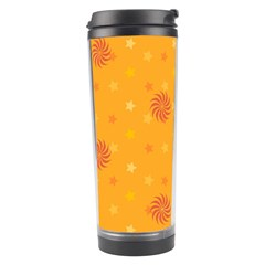 Star White Fan Orange Gold Travel Tumbler by Alisyart