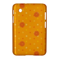 Star White Fan Orange Gold Samsung Galaxy Tab 2 (7 ) P3100 Hardshell Case  by Alisyart