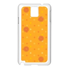 Star White Fan Orange Gold Samsung Galaxy Note 3 N9005 Case (white) by Alisyart