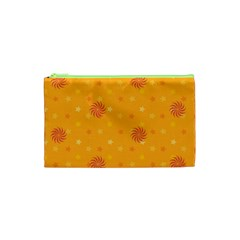 Star White Fan Orange Gold Cosmetic Bag (xs) by Alisyart