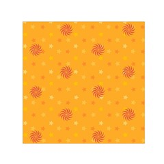 Star White Fan Orange Gold Small Satin Scarf (square) by Alisyart