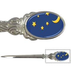 Starry Star Night Moon Blue Sky Light Yellow Letter Openers