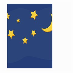 Starry Star Night Moon Blue Sky Light Yellow Large Garden Flag (two Sides) by Alisyart