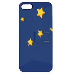 Starry Star Night Moon Blue Sky Light Yellow Apple Iphone 5 Hardshell Case With Stand by Alisyart