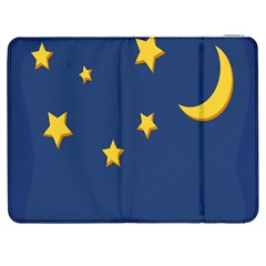 Starry Star Night Moon Blue Sky Light Yellow Samsung Galaxy Tab 7  P1000 Flip Case