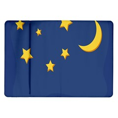 Starry Star Night Moon Blue Sky Light Yellow Samsung Galaxy Tab 10 1  P7500 Flip Case