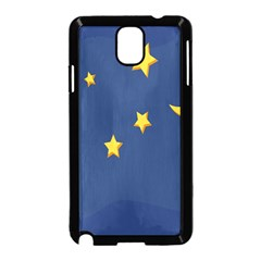 Starry Star Night Moon Blue Sky Light Yellow Samsung Galaxy Note 3 Neo Hardshell Case (black)