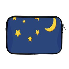 Starry Star Night Moon Blue Sky Light Yellow Apple Macbook Pro 17  Zipper Case