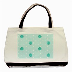Star White Fan Blue Basic Tote Bag (two Sides) by Alisyart
