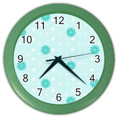 Star White Fan Blue Color Wall Clocks by Alisyart