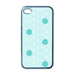 Star White Fan Blue Apple Iphone 4 Case (black)