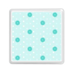 Star White Fan Blue Memory Card Reader (square)  by Alisyart