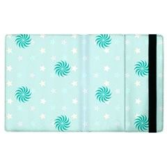 Star White Fan Blue Apple Ipad 2 Flip Case
