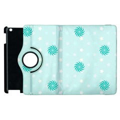 Star White Fan Blue Apple Ipad 2 Flip 360 Case by Alisyart