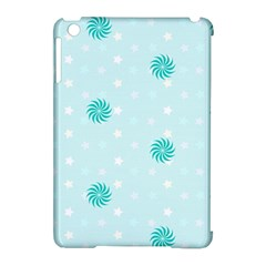 Star White Fan Blue Apple Ipad Mini Hardshell Case (compatible With Smart Cover)