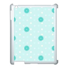 Star White Fan Blue Apple Ipad 3/4 Case (white)