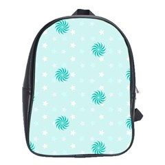 Star White Fan Blue School Bags (xl)