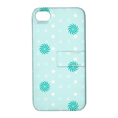 Star White Fan Blue Apple Iphone 4/4s Hardshell Case With Stand by Alisyart