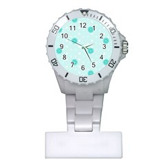 Star White Fan Blue Plastic Nurses Watch by Alisyart