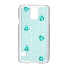 Star White Fan Blue Samsung Galaxy S5 Case (white)