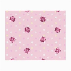 Star White Fan Pink Small Glasses Cloth by Alisyart