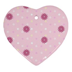 Star White Fan Pink Heart Ornament (two Sides) by Alisyart