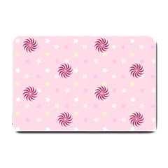 Star White Fan Pink Small Doormat