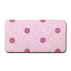Star White Fan Pink Medium Bar Mats