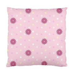 Star White Fan Pink Standard Cushion Case (one Side)