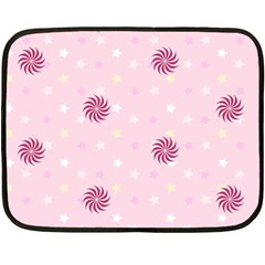 Star White Fan Pink Fleece Blanket (mini) by Alisyart