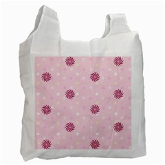 Star White Fan Pink Recycle Bag (one Side)
