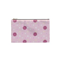 Star White Fan Pink Cosmetic Bag (small)  by Alisyart