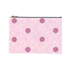 Star White Fan Pink Cosmetic Bag (large)  by Alisyart
